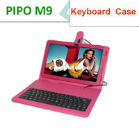Keyboard Case 7'' For Apple Russia letter support Leather keyboard Case for Pipo m9 original leather case for 10.1 inch Pipo M9 3G tablet pc free shipment