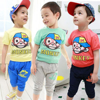 Boys Discount Designer Clothing Cheap Unisex kids summer set