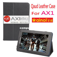 Protective Shell/Skin ainol tablet price - Cheapest Price Leather Case for Ainol Numy AX1 Tablet Floder Stand Cover Skin inch Black Color