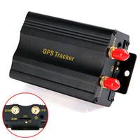 Nuevo vehículo que rastrea el perseguidor 103B del GPS del coche + el sistema de alarma K684 de la ranura para tarjeta del SD de la alarma del G / M del control remoto