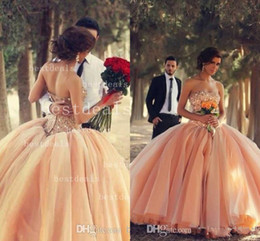 2014 Ball Gown Wedding Dresses Christmas Sexy Sweetheart Rhinestones Pleated Tulle Pink Elegant vestidos de novia Bridal Gowns BO3000