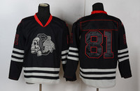 Wholesale Black Hockey Jersey Blackhawks HOSSA Ice Hockey Jersey with Ice Skull Mens Sports Jerseys Playoffs Jerseys Stitched Logo Mix Order