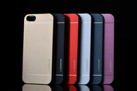 Wholesale MOTOMO Brushed Metal Aluminium Alloy Hard PC Cover Case for iPhone G S S