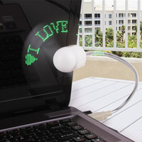 USB Fan usb gadget - WITH USB AND CD Message words programmable USB LED fan text editing DIY small LED fans LED USB Gadgets for gifts