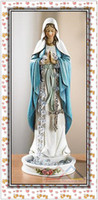 Wholesale 8 quot Blessed Mary Madonna Catholic Rosary Holder Statue Religious Figurine