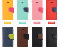 For Apple iPhone Leather  Mercury Wallet PU Flip Leather Case Card Slot For iPhone 4 4S 5 5S Samsung Galaxy S3 S4 S5 i9600 With Retail Package