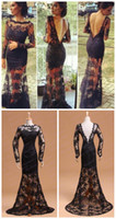 Cheap Model Pictures long sleeve evening dress Best Scalloped Lace sheer lace evening dress
