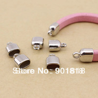 Charms Jewelry Findings Yes fitting 10*6mm leather cord 20pcs lot rhodium CCB end caps F33