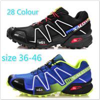 Wholesale 2014 New arrival Zapatillas salomon Speedcross Men Athletic Shoes Sports Outdoor Running Shoes Size