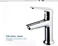 Wholesale All copper washbasin tap hole of hot and cold water basin bathroom faucet valve body top import of refined copper zinc alloy handle