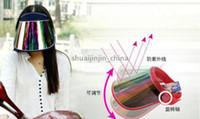 Wholesale 2014 Fashion Womens Summer Outdoor Sunscreen Hat UV Protection Caps Sun Visor Hats ZD164 DHL free