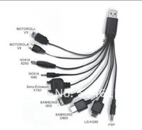 Wholesale New Multi in Universal Multi Function Cell Phone Game USB Charging Cable Charger line