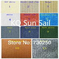 Wholesale Customize Sun Shade Sail made of g m2 HDPE UV material in different colors as clients requirement