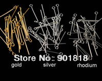 Wholesale 0 mm bag jewelry accessories silver plated eye Pins F117