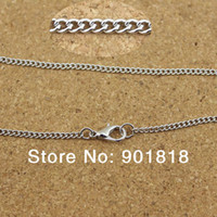 Clasps & Hooks Jewelry Findings Yes 10pcs lot Wholesale antique bronze gold silver rhodium metal chains with lobster clasp Fit necklace,bracelets