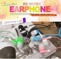 Universal in-ear earphone Mix colors Whole Hot-sale Cartoon in-ear Earphone Headphone 3.5mm jack earphone For Cell phone iphone Samsung HTC Mp3 Mp4 Mini HD headset Free Shipping