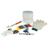 Wholesale fusing millefiori glass small microwave kiln kits fusing art work
