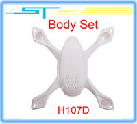 Helicopters rc helicopter body - 10pcs Hubsan H107D Spare Parts Body set Shell for X4 drone helicopter FPV RC Quadcopter remote control Toy