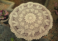 Wholesale 9 off new arrivals Hand crocheted lace crochet round tablecloth coaster x60cm hand crochet hook Drop shipping hot sale