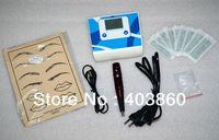 Wholesale Professional Permanent Makeup tattoo kit with top makeup tattoo machine and makeup needles