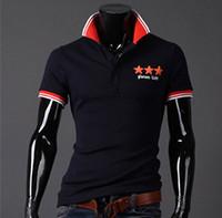 Men Cotton Shirts 2014 New men short sleeve polo shirt 3 colors size M-XXL Good quality MTP059