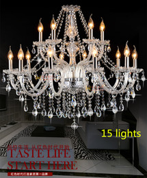 Modern 15 lights crystal chandelier luxurious suspension led lamps antique clear chandeliers living room bedroom hanging light home ilightin