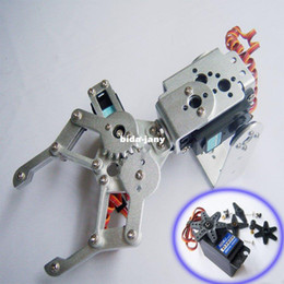 Wholesale F03992 A DOF Aluminium Robot Arm Clamp Claw Mount kit HDKJ D3609 KG Metal gear Digital servo for Arduino Freeship