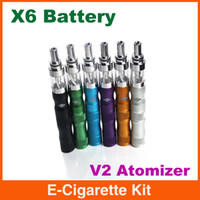 1300mAh Adjustable ego X6 Kit X6 E Cig Ecigarette Electronic cigarette starter Kit 1300mah variable voltage battery EGO X6 VV Battery with V2 Atomizer for protank