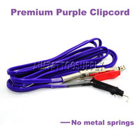 other Tattoo Power Supply  Premium Silicon Tattoo clip cord no metal springs purple supply