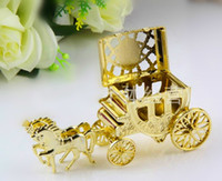 horse decor - 25 new arrival royal horses cart or royal carriage candy box for wedding favor wedding invitations christmas gifts christmas decor