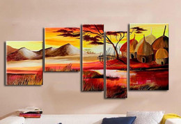 Wholesale Home Office Oil Painting on canva African Landscape Abstract decoration High Quality handmade Hotel wall art decor Artwork