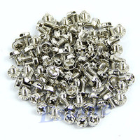 Stock 26227 Triple-Core 100pcs Toothed Hex 6 32 Computer PC Case Hard Drive Motherboard Mounting Screws