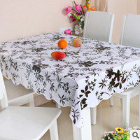 Wholesale 10 waterproof and anti oil home decorative PVC print tablecloth free washing table cloth
