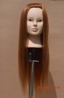 Wholesale Mannequin Maniqui High Temperature Hair Fiber Training Female Mannequin Head With Clamp