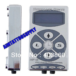 Wholesale Permanent Hurricane Tattoo Power Supply HP Digital LCD Display silver Foot Pedal Clip Cord