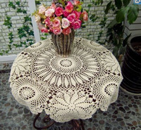 Wholesale 9 off Handmade crochet crocheted cloth cover tables coaster x80cm hand crochet hook Drop shipping hot sale high quality