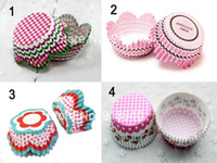 Wholesale 100pcs Pastoral Patterns Wedding Cupcake Liner Decoration Mini Baking Cup Cake Paper Muffin Case Wrappers