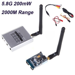 2017 vidéo rc Boscam 5.8 GHz 200mW FPV Video Transmetteur Audio sans Fil Avion Récepteur 8 voies AV TX RX 2KM de 2000M pour RC MultiCopter abordable vidéo rc