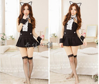 Wholesale Sexy female kitten kitty cat ears to play the game uniforms sexy lingerie sexy underwear suit