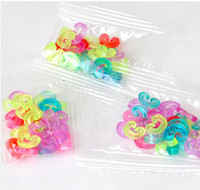 Wholesale set Colorful S Clips C clips DIY Rainbow Loom Refill Bands Bracelet Connector Kids DIY Rubber Band Hook
