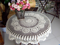 Wholesale 9 off Handmade crochet crochet cotton tablecloth bun coaster x90cm hand crochet hook Drop shipping hot sale high quality