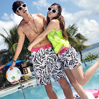 Women Bikinis Geometric swimwear 2013 lovers beach pants summer 709 quick-drying fabric shorts with flower new fashion high quality