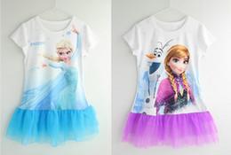 2014 New Arrival Girls Frozen dress Kids Elsa's dress Hot sell Frozen Princess dresses Baby Summer Clothing