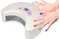 Wholesale noon shape W LED UV Curing Lamp Nail Gel Polisher Dryer Tool Fashion Salon Nails SPA Equipment