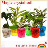 Crystal Soil aqua beads - Magic crystal soil hydrogel beads flower vase wedding table centerpieces decor novelty households aqua soil colorful g