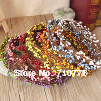 Wholesale 9Colors available length cm diy pretty pip berry stem for floral arrangemanet crafts wedding garland decoration accessories