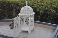 metal candle stand - Metal souvenir wedding gift candle holder house shop decoration Iron lantern White House finish