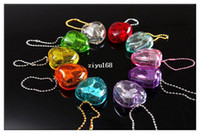 Wholesale 10pcs Different Color Mini Heart Shaped Keychain Clockwork Spring Movement Music Box Castle in the sky