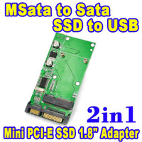 Wholesale 2 in mSATA Mini SATA to SATA Mini USB PCI E SSD quot to quot Pin Converter CM CM CM HDD Hard Disk Drive Adaptor