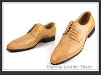 Wholesale new top quality business leather shoes crocodile genuine cowhide men leather shoes classic oxfords